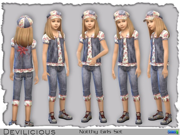 The Sims Resource: Notthy (naughty) Girls Set by Devlicious
