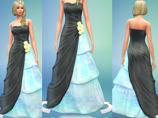 The Sims Resource: Elegent Swan Dress by Otakutwins