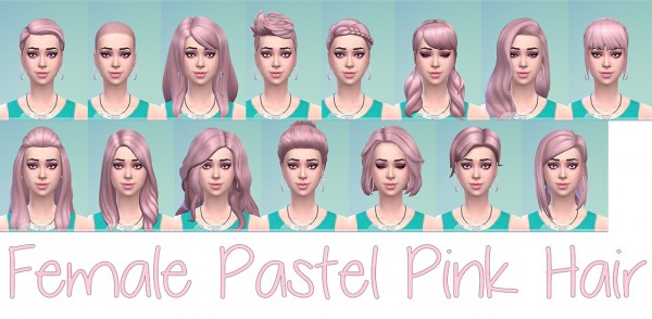 Stars Sugary Pixels: Pastel pink hair