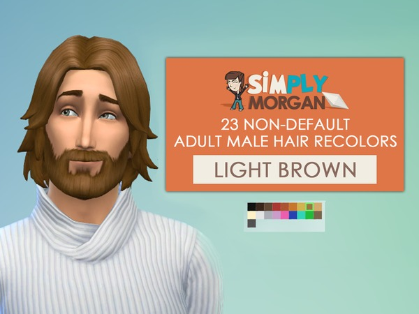The Sims Resource: Light Brown Hair Non Default Recolors for man