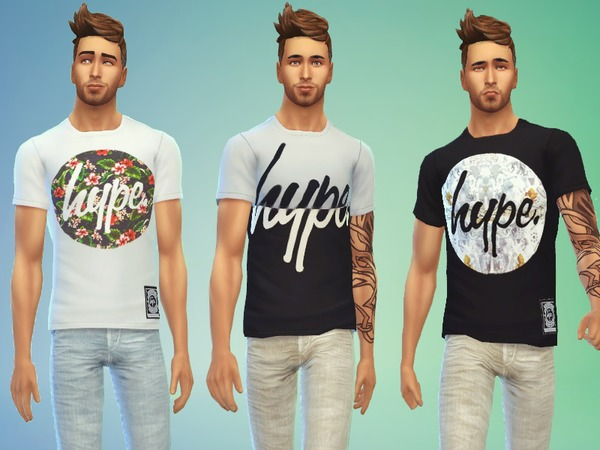 The Sims Resource: Just Hype t shirts by Odey92