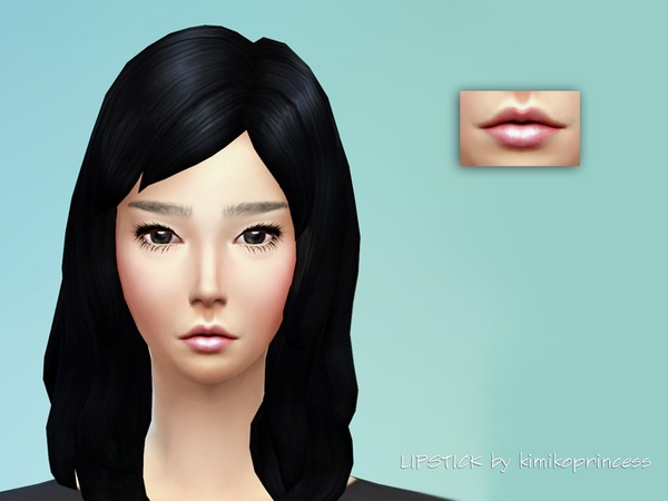 The Sims Resource: Cute Pink Lipstick by Kimikoprincess