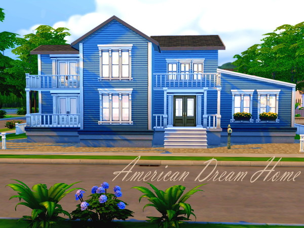 The Sims Resource American Dream Home By Hazelsims Sims
