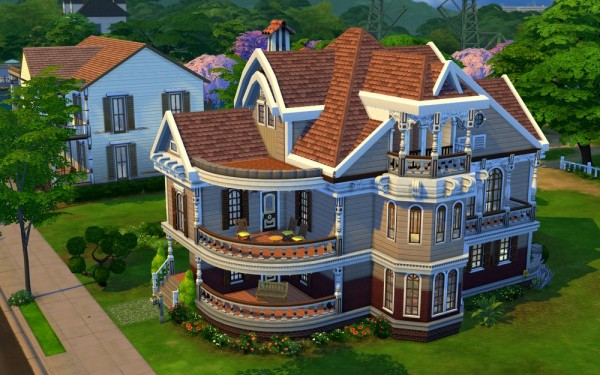 Jarkad sims 4 family house no 2 sims 4 downloads for Classic house sims 4