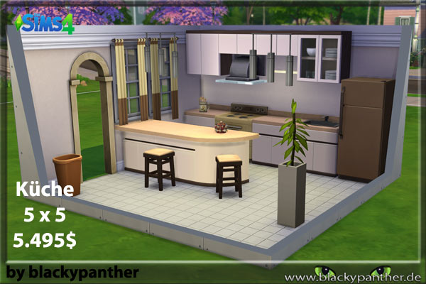 Blackys sims 4 zoo featured kitchen brown by blacky for Kitchen ideas sims 4