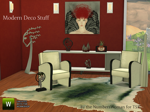 The Sims Resource: Modern Deco Stuff by TheNumbersWoman