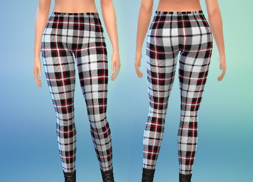Pure Sims Red And White Plaid Leggings Sims 4 Downloads