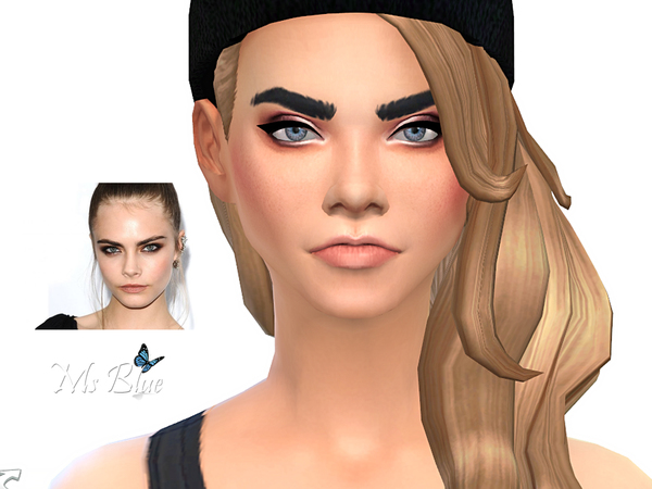 The Sims Resource: Cara Delevingne female sims model by Ms Blue
