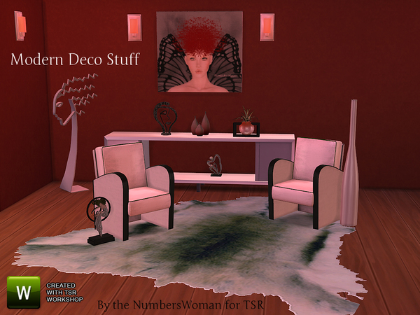 The Sims Resource Modern Deco Stuff By TheNumbersWoman