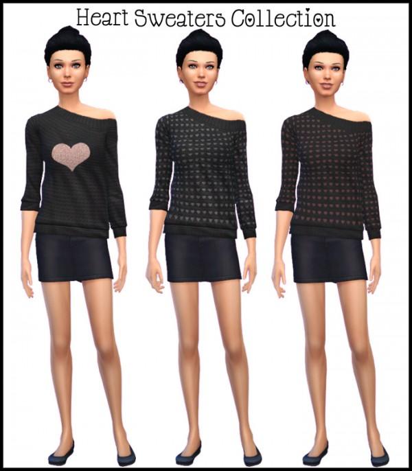 Simista: Three Simple Heart Sweaters