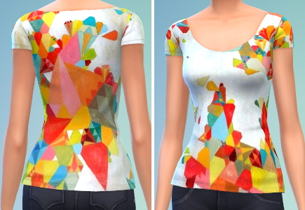 The simsperience: 10 Scoop Neck T shirts