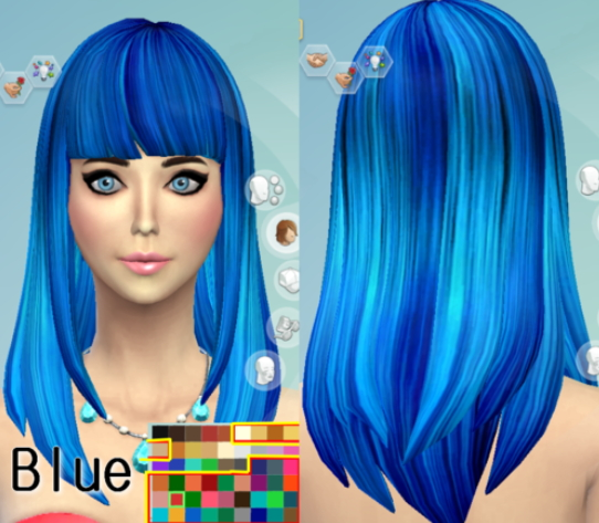 Darkiie Sims 4: 35 Hair Recolors • Sims 4 Downloads