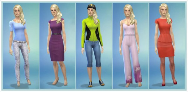 Sims by Severinka: Leah Young female sims model