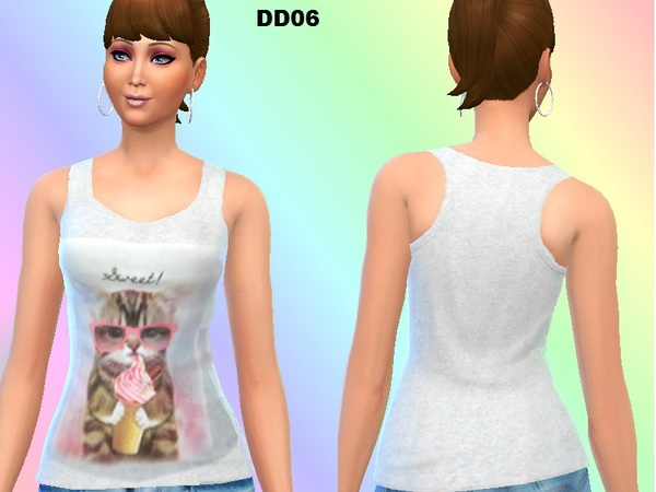 The Sims Resource: Cute tank sets by DivaDelic06