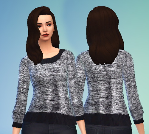 Pure Sims: Grey Knit Sweater