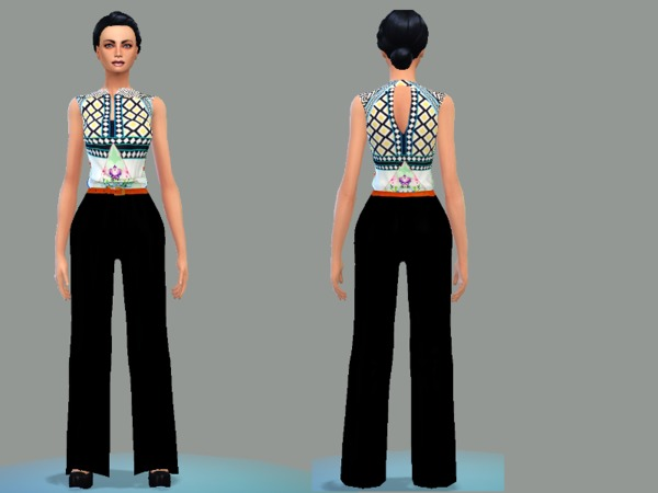 The Sims Resource: Jumpsuit black fashion by Simsoertchen