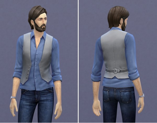 Rusty Nail: Shirt rolled vest retextured