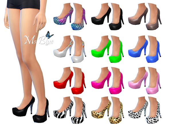 The Sims Resource: Imani Pumps by Ms Blue