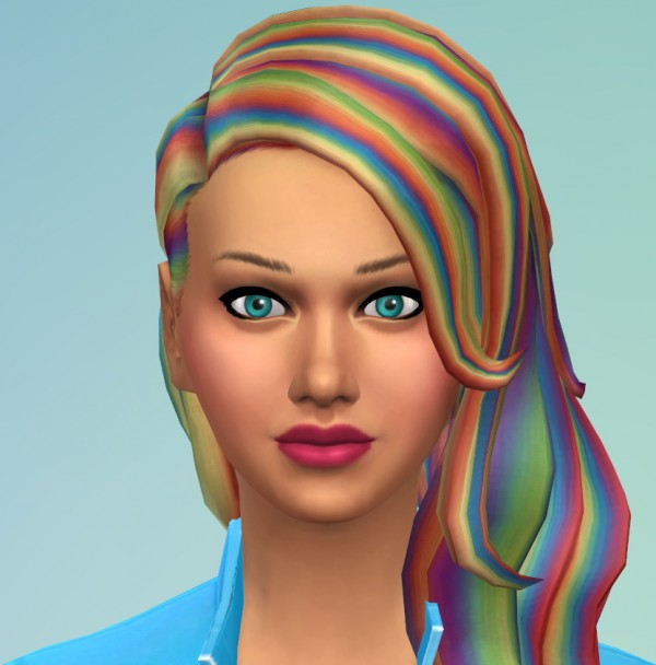 The simsperience: Rainbow Dash Capri Pants, Jacket and Hairs