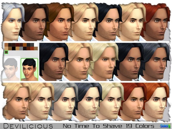 The Sims Resource: No Time To Shave Stubly Beard by Devilicious