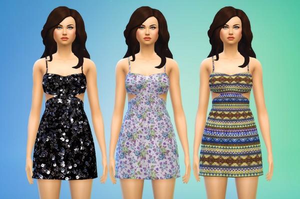 Seventhecho: Cutout Dresses: Sequin, Floral, Pattern