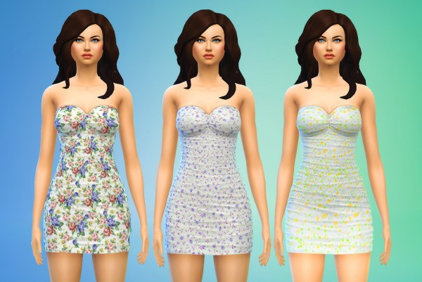 Seventhecho: Short Floral Dresses