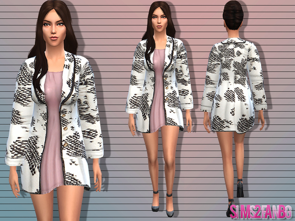 The Sims Resource: Female coat by Sims2fanbg