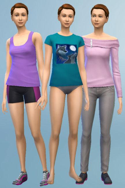 Blackys Sims 4 Zoo: Karo Violet sims model