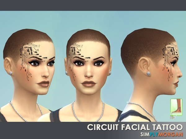 Simply Morgan: Circuit Facial Tattoo by Simply Morgan77