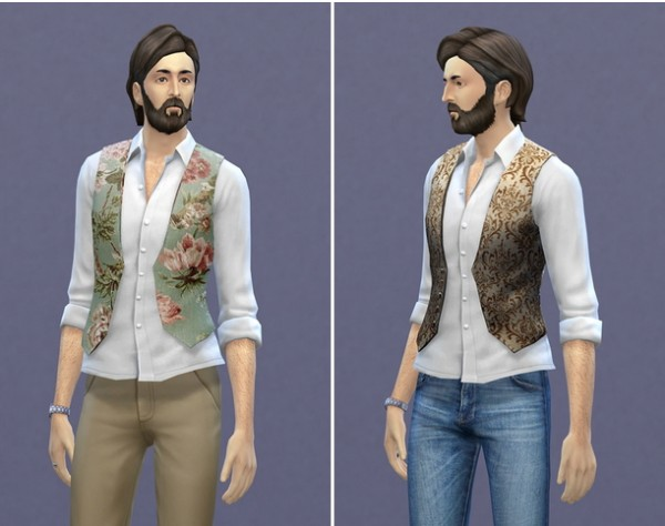 Rusty Nail: Shirt rolled vest 2 retextured