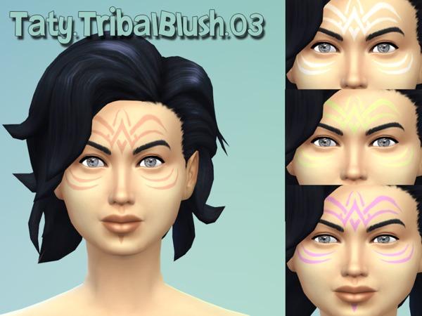 The Sims Resource: Tribal blush 03 by Tattygagg