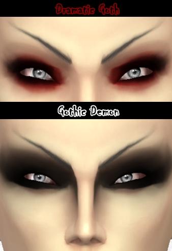 Decay Clown Sims: Dramatic eyeshadows