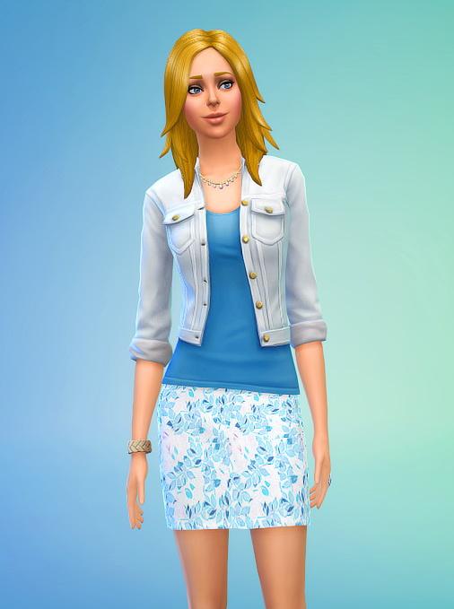 Seventhecho: Blue Floral Mini Skirt