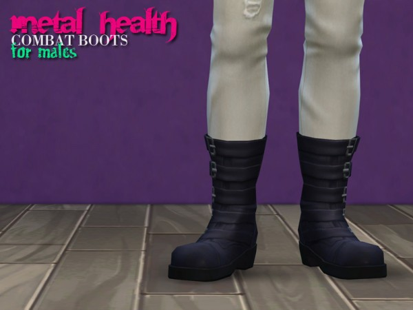 The Path Of Nevermore: Metal Health Combat Boots