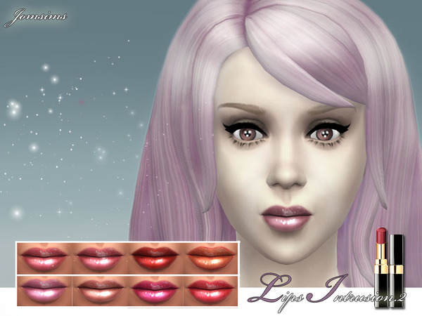 The Sims Resource: Lips intrusion. 2 realistic lips 8 colors