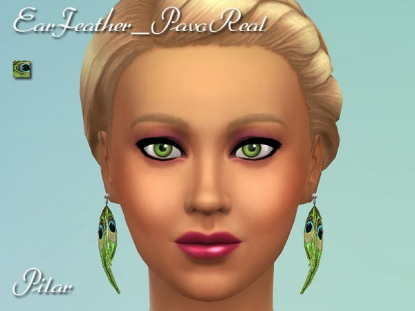 feather hair styles layers simcontrol ear feather earings sims 4 downloads 2333
