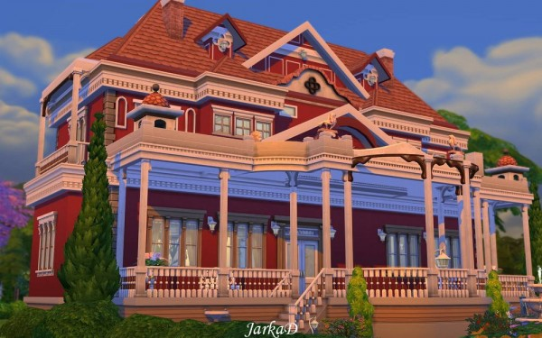 JarkaD Sims 4 Colonial house romantic Sims 4 Downloads