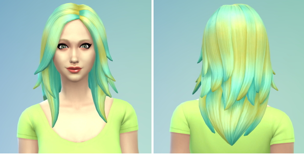 The simsperience: Yellow Blue Faded Hair
