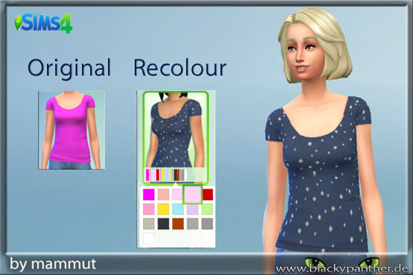 Blackys Sims 4 Zoo: Solid Blue dots top