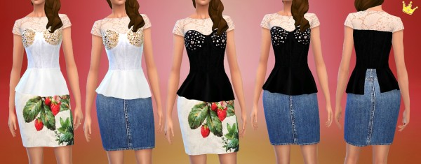 In a bad romance: 500 followers gift Lana Del Ray inspired set 1 shirt, 2 cropped tops and 1 full outfit