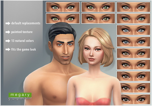 Mod The Sims: Natural Colors Eyeset by Megary