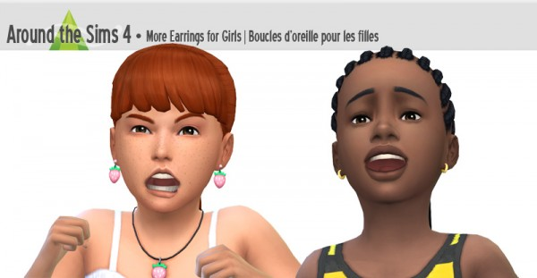 Around The Sims 4: More earrings for girls