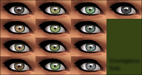 Mod The Sims: Courageous Eyes  by Vampire aninyosaloh