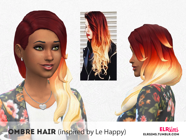 The Sims Resource: Ombre Hair inspired by Le Happy by ELRsims