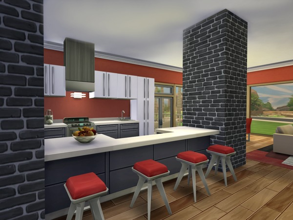 The Sims Resource: Modern Oasis   residential lot by Chemy