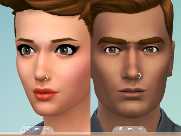 Mod The Sims: Nose Ring by Snaitf