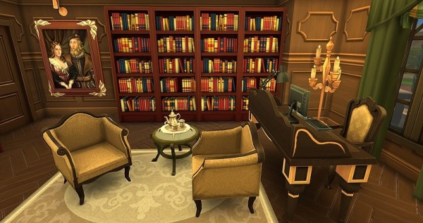 Ihelen Sims Old Classics Study Room By Dolkin Sims 4