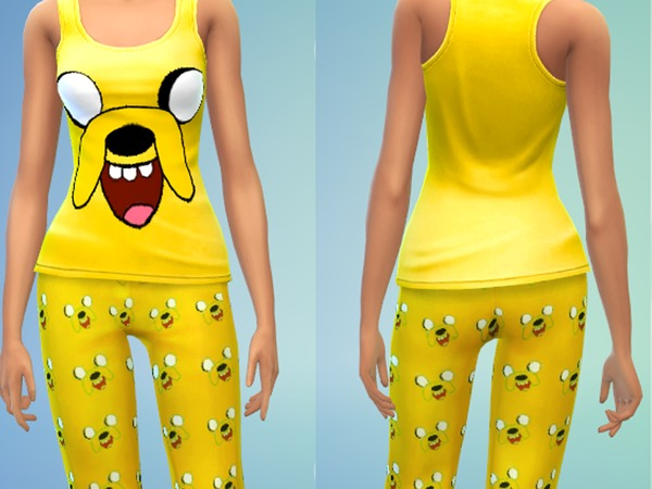 The Sims Resource: Jake Pjs for Women by Lanessear