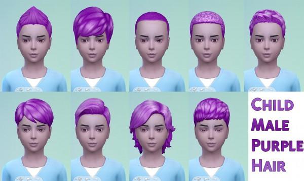 Stars Sugary Pixels: Child purple hair