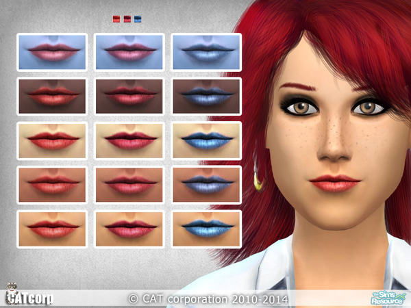 The Sims Resource: Lipstick 01 by Cat Corporations